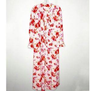 Vintage Oscar de la Renta Floral Polka Dot Robe M
